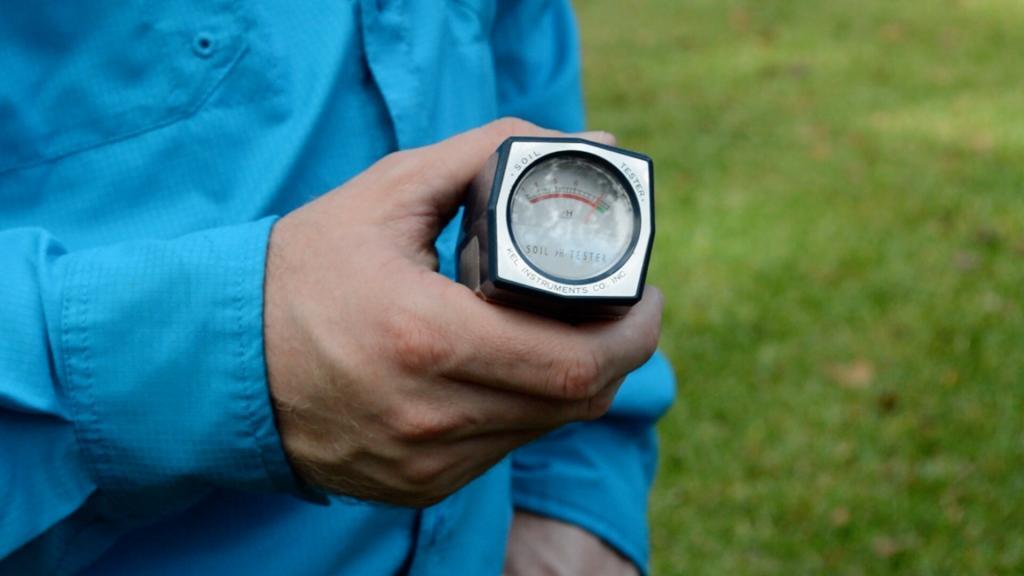 Handheld pH soil tester